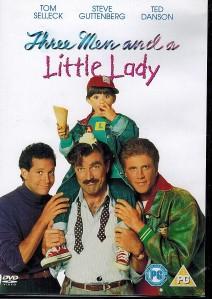 Tre män och en liten tjej