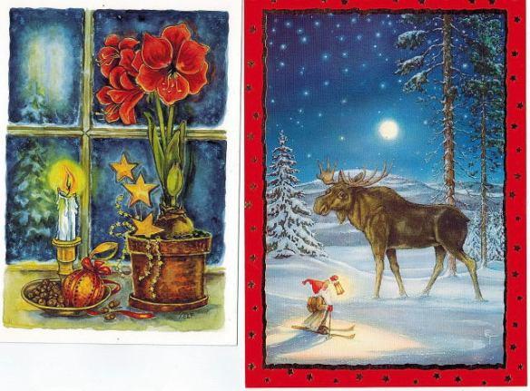 Två julkort