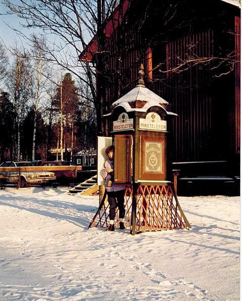 Telefonkiosk i Umeå